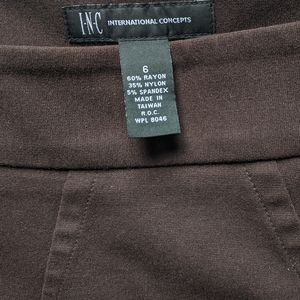 INC International Concepts Skirts - I.N.C. Brown Pencil Skirt w Back Pleat sz 6